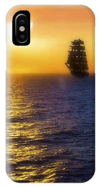 Sailing Out Of The Fog At Sunrise IPhone Case