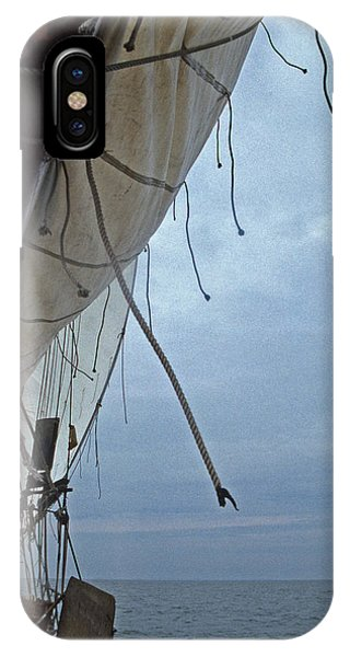 Skipjack iPhone Case - Sailing Skipjack by Skip Willits