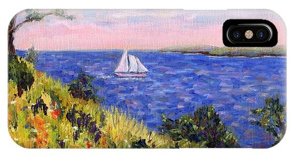Sailing Through Belfast Maine IPhone Case