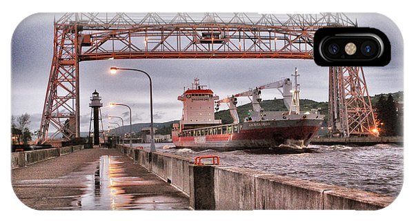 Sailing Through The Duluth Aerial Lift Bridge IPhone Case