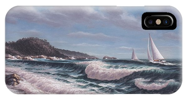 Sailing Toward Point Lobos IPhone Case