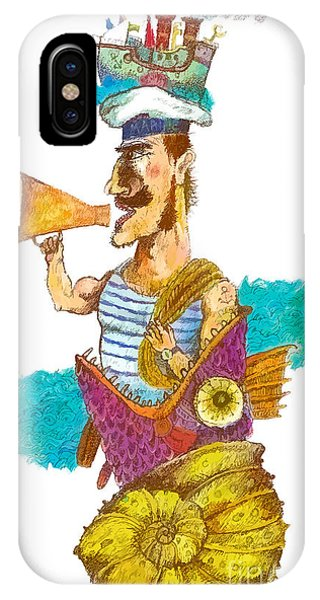 T Shirts iPhone Case - Sailor Man In Distress. Fantastic by Alex74