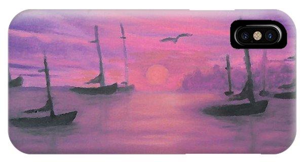 Sails At Dusk IPhone Case