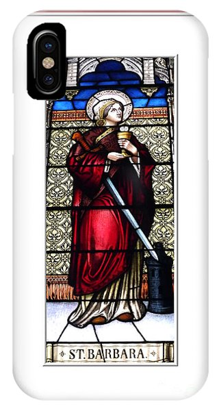 Saint Barbara Stained Glass Window IPhone Case
