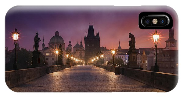 Bridge iPhone Case - Saint Charles Bridge, Prague by Inigo Cia