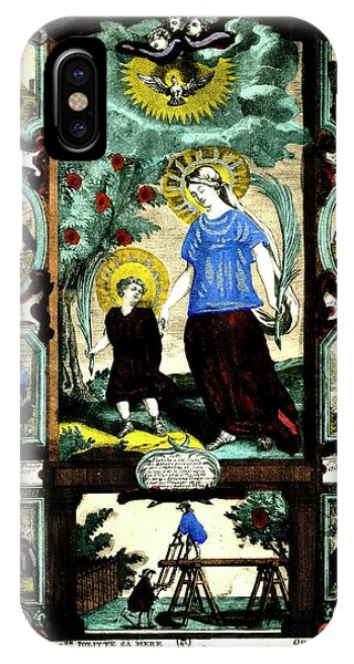 New Testament iPhone Case - Saint Cyricus And Julitta by Collection Abecasis/science Photo Library
