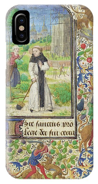 Saint Fiacre And The Shrew Houpdée Becnaude Or Baquenaude Phone Case by Litz Collection