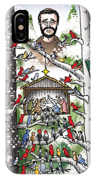 St. Francis And The Birds IPhone Case
