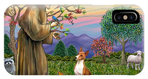 Saint Francis Blesses A Basenji IPhone Case