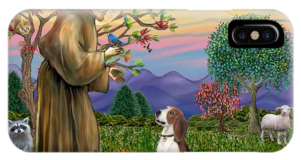 Saint Francis Blesses A Beagle IPhone Case