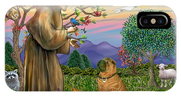 Saint Francis Blesses A Chinese Shar Pei IPhone Case