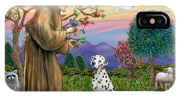 Saint Francis Blesses A Dalmatian IPhone Case