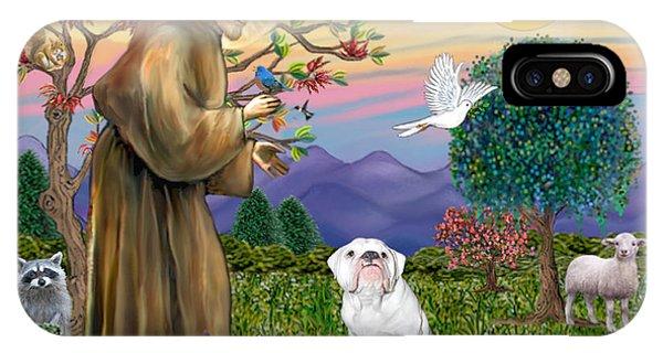 Saint Francis Blesses An English Bulldog IPhone Case