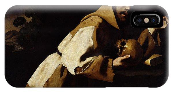 Poverty iPhone Case - Saint Francis In Meditation by Francisco de Zurbaran