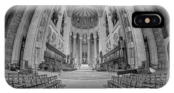 Saint John The Divine Cathedral High Altar  II Bw IPhone Case