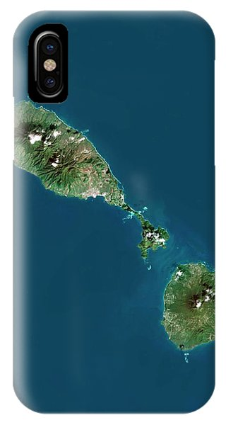 Saint Kitts And Nevis Phone Case by Planetobserver/science Photo Library