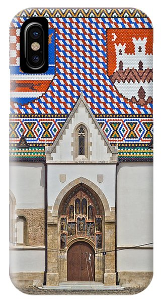 Saint Mark Church Facade Vertical View IPhone Case