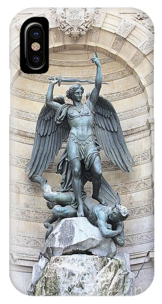 Saint Michael The Archangel In Paris IPhone Case