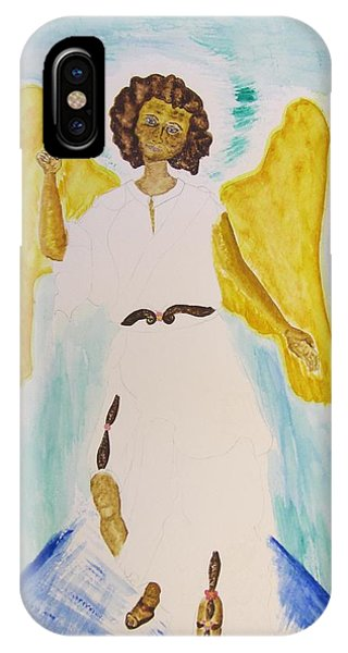 Saint Michael The Archangel Miracle Painting Phone Case by Debbie Nester