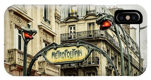Paris Metro iPhone Case - Saint-michel Metro Station by Marco Oliveira