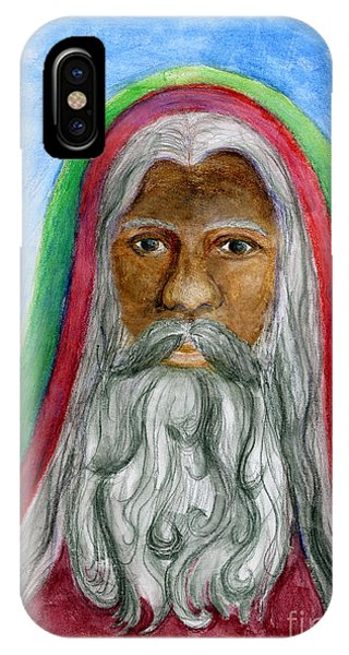 Saint Nicholas Black Old World Santa  IPhone Case