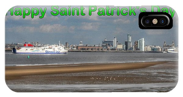 Saint Patrick's Greeting Across The Mersey IPhone Case