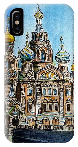 Saint Petersburg Russia The Church Of Our Savior On The Spilled Blood IPhone Case