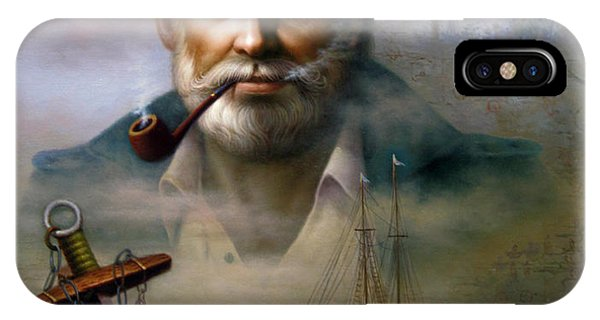 Saint Simons Island Sea Captain 2 IPhone Case