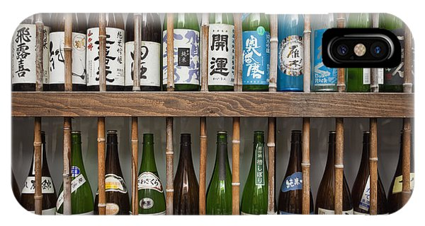IPhone Case featuring the photograph Sake Bottles by Bryan Mullennix
