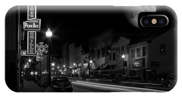 Salem Ohio Winter Moon IPhone Case