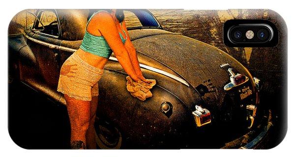 Salesman Coupe Comes Clean At Gantt's Garage IPhone Case