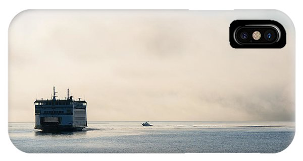 Port Townsend iPhone Case - Salish Into The Fog by Mike  Dawson