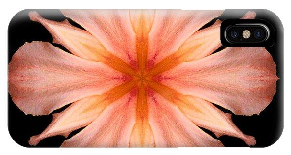 Salmon Daylily I Flower Mandala IPhone Case