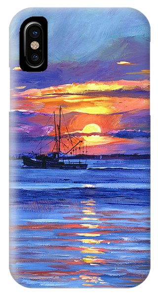 Salmon Trawler At Sunrise IPhone Case