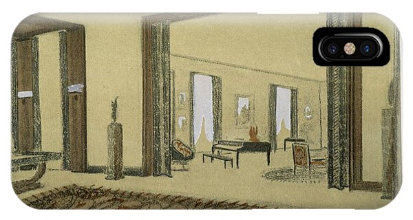 Interior iPhone Case - Salon, From Repertoire Of Modern Taste by Jacques-Emile Ruhlmann