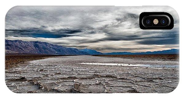 Salt Water iPhone Case - Salt Flats by Cat Connor