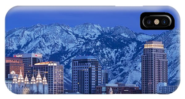 IPhone Case featuring the photograph Salt Lake City Skyline by Brian Jannsen