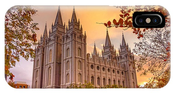 Lake iPhone Case - Salt Lake City Temple by Emily Dickey