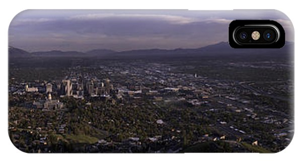 Temple iPhone Case - Salt Lake Valley by Chad Dutson