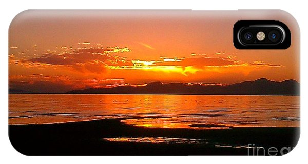 Salt Lakes A Fire IPhone Case
