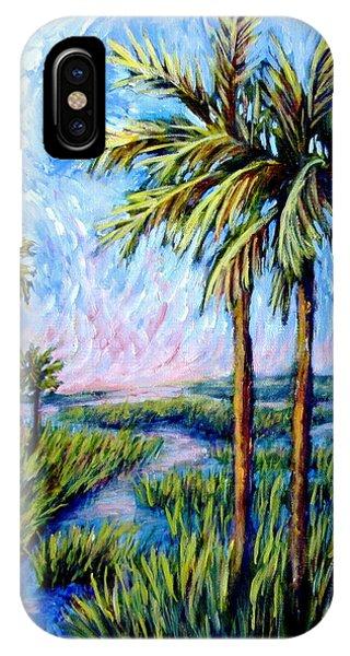 Salt Marsh Palms IPhone Case