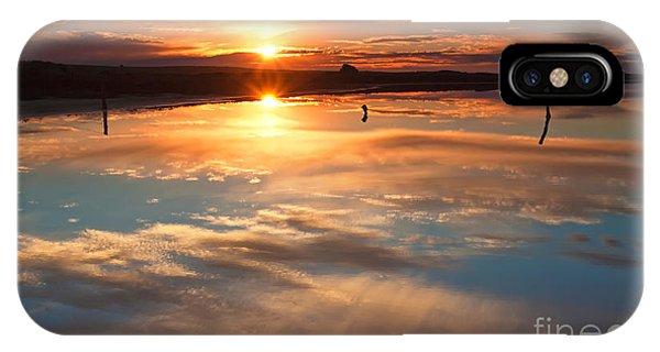 Salt Water iPhone Case - Salt Pan Sunrise by Bill  Robinson