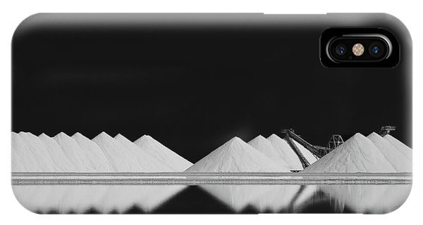 Industry iPhone Case - Salt Production Bw by Rolf Endermann