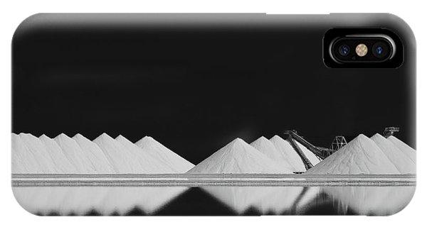 Simple Landscape iPhone Case - Salt Production Bw by Rolf Endermann