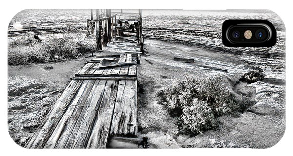 Salton Sea Dock Under Renovation By Diana Sainz IPhone Case