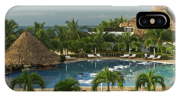 Belize iPhone Case - Saltwater Pool At Resort Hotel by William Sutton