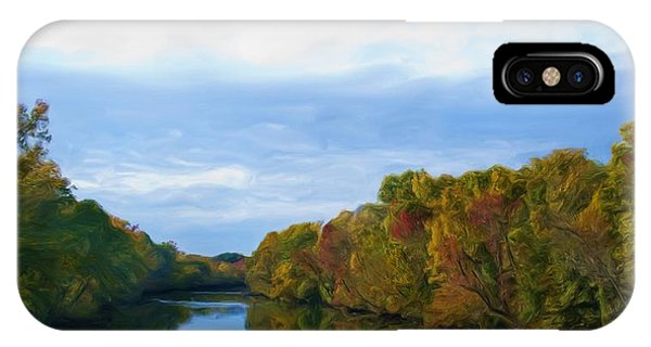 Saluda River In The Fall IPhone Case