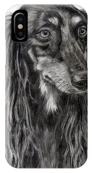 Saluki Black And White Drawing IPhone Case