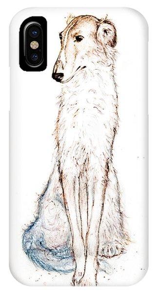 Saluki Phone Case by Kurt Tessmann