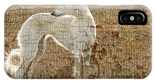 Saluki Texture Phone Case by Judy Wood